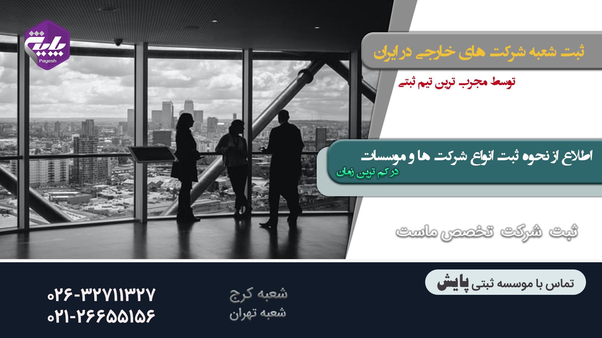 نمایندگی شرکت های خارجی در ایران